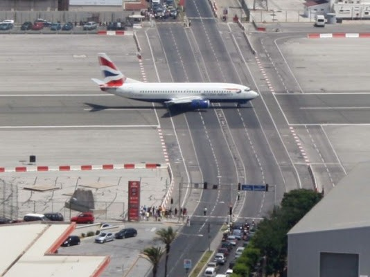 Don't run a red light at Gibraltar Airport