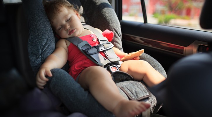 Children left in hot cars