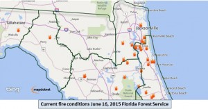 Current Florida Fire Conditions 6-16-15