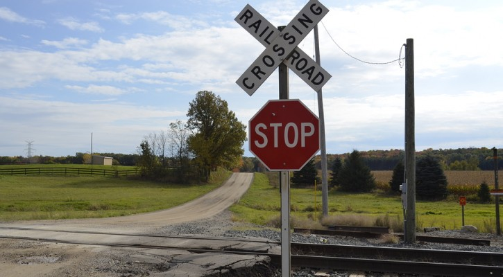 Google navigation system to alert of railroad crossings