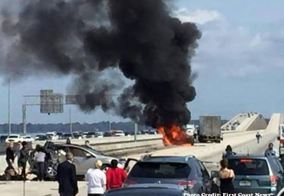 Buckman bridge crash