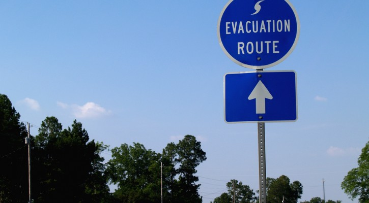 Evacuating from hurricanes and tropical storms
